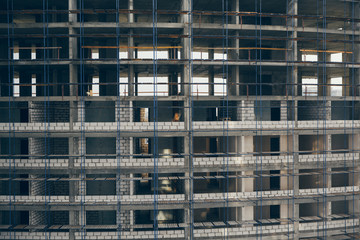Under construction high-rise building