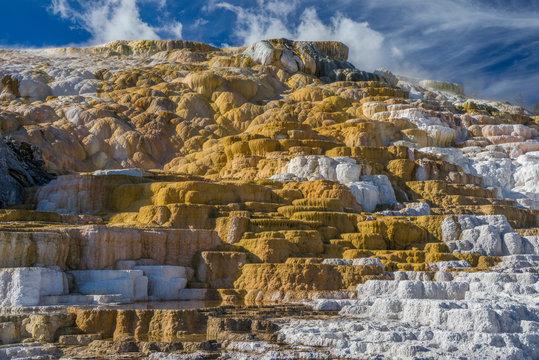 USA, Wyoming, Yellowstone National Park Mammoth Hot Springs