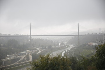 Pont Salah Bey cable-stayed bridge in Constantine, Algeria