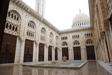 mosque courtyard in constantine, algeria