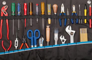 Toolbelt containing various tools DIY consept