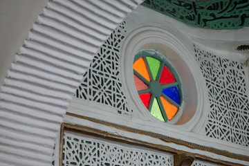 Tainted glass window in a Mosque