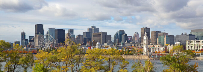 Wall Murals City building Skyline of Montreal city at fall, Canada