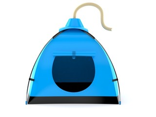 Tent with bomb wick