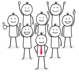 Kleine Firma / Team / Teamwork / Zusammen / Willkommen