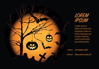 Black and Orange Halloween Card Layout