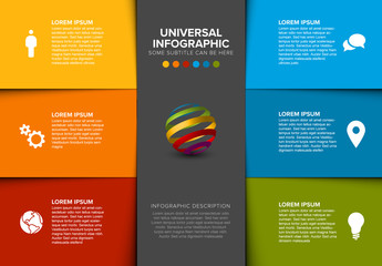 Three Column Inforgraphic Layout