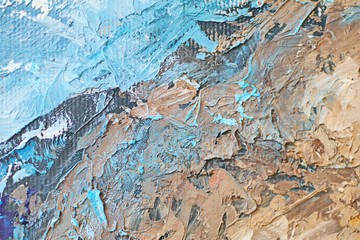 Close up texture with brush strokes and palette knife strokes. Suitable for creative ideas, backgrounds and  textures.