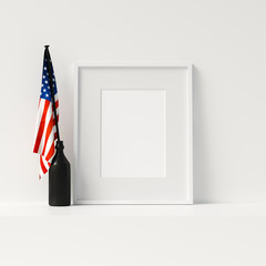 Veterans Day Decoration Mock Up Poster Frame