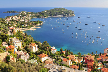 The famous perched village of Saint-Jean-Cap-Ferrat. Europe, France, Alpes-Maritimes. Fototapete