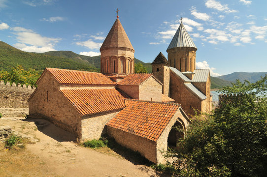 Ananuri  -  a castle complex  with church of the Mother of God on the Aragvi River in Georgia