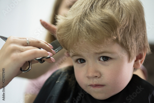 Where Haircut Is Childs Play Small Child In Hairdressing Salon