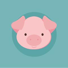 Funny pig illustration
