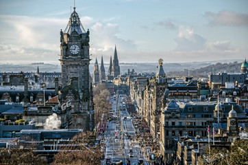 view of princess street edinburgh