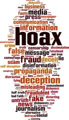 Hoax word cloud