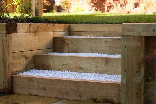 Garden sleeper steps
