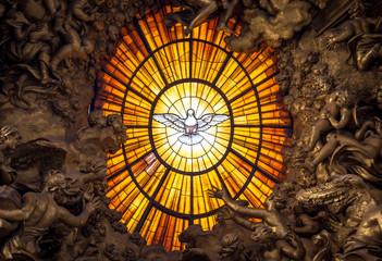 Throne Bernini Holy Spirit Dove, Saint Peter's Basilica in Rome Wall mural