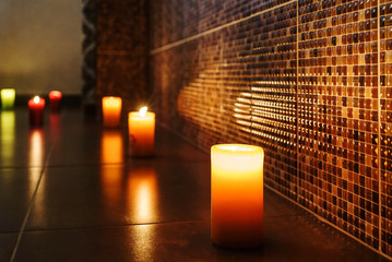candles in the bathroom