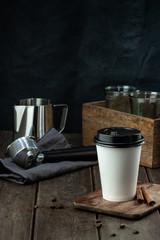 Printed kitchen splashbacks Milkshake Coffee to go