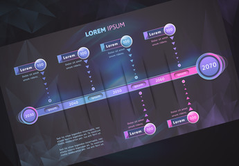 Timeline Infographic Layout with Gradients