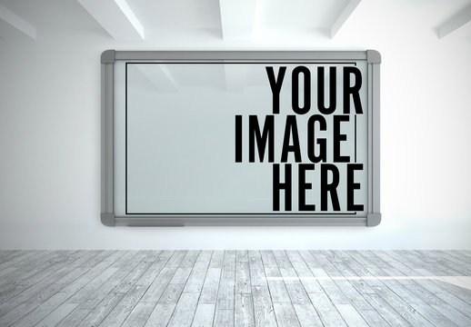Large Frame in White Room Mockup