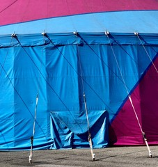 Technicolor pink and white circus tent