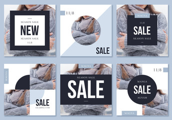 Winter Fashion Sale Social Media Posts