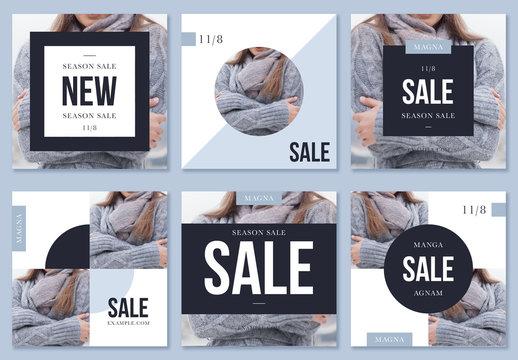 Winter Fashion Sale Social Media Posts