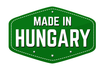 Made in Hungary label or sticker