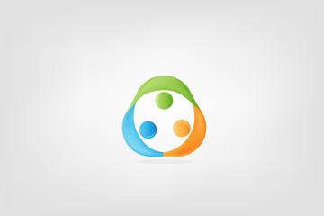 Teamwork unity people identity business card logo icon