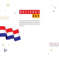 Netherlands National Day Vector Template Design Illustration