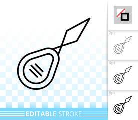 Needle Threader simple black line vector icon