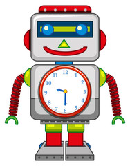 A robot toy on white background