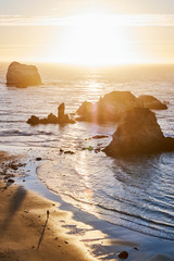 A sunset over Sand Dollar Beach in Big Sur, CA
