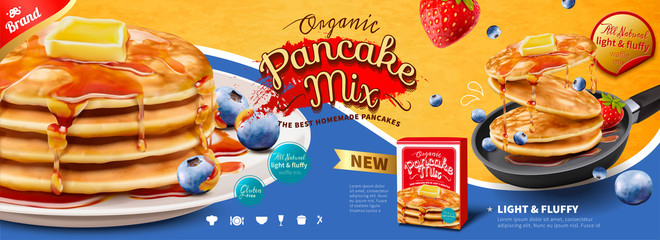 Fluffy pancake banner ads