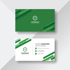 Professional Business Card with Green Details