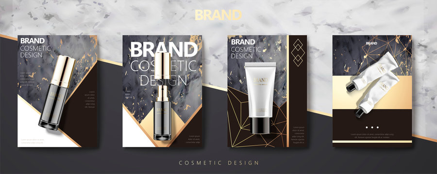 Cosmetic product set brochure