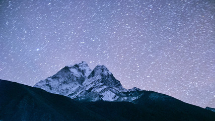 Ama Dablam at night