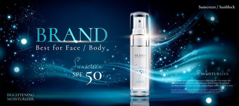 Cosmetic spray ad