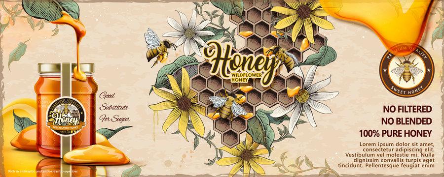 Wild flower honey ads