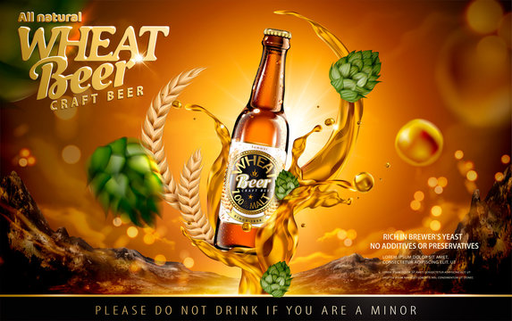 Craft wheat beer ads