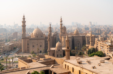 Foto op Canvas Afrika Mosques in Cairo city of Egypt landscape at day