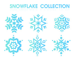 Snowflakes Collection Set for Christmas Day. Illustration Vector EPS10 on white background.