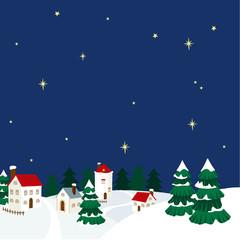 クリスマス 町並みイラスト