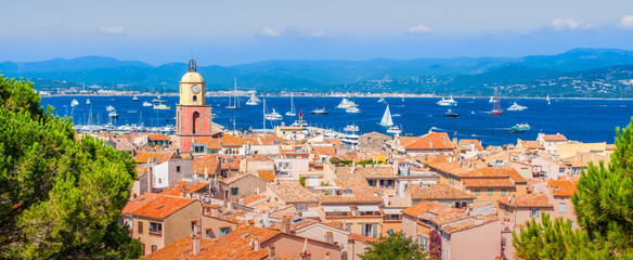 Wall Mural - Panoramic view of Saint Tropez, France