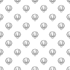 Eco broccoli pattern seamless repeat background for any web design