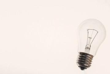 Traditional lightbulb on white