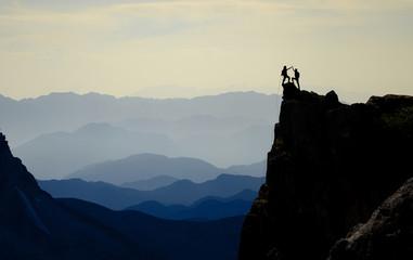 rock climb success and charming mountains