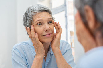 Mature woman aging