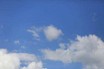 Blue sky with white clouds beautiful background.